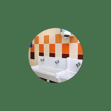 Miroir incassable pour sanitaires en plexichok diam tre 600 mm for Miroir incassable