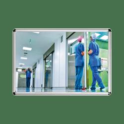 Miroir  en plexichok 400 x 600 mm - avec cadre alu