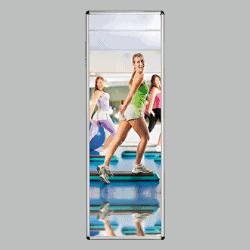 Miroir  en plexichok 400 x 1200 mm - avec cadre alu