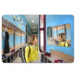 Miroir incassable pour sanitaires en plexichok 600 x 800 mm