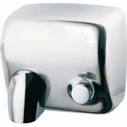 Sèche-mains cyclon manuel acier brillant