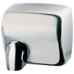 Sèche-mains cyclon automatique acier brillant