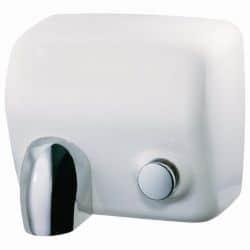 Sèche-mains cyclon manuel acier blanc