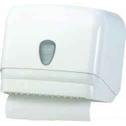 Distributeur de papier plié ou en rouleau finition ABS blanc