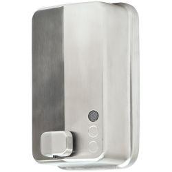 Distributeur de savon liquide à bouton poussoir acier satiné