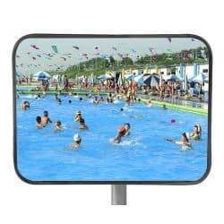 Miroir de surveillance en INOX 400 x 600 mm