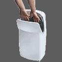 Les sèche-mains verticaux à air pulsé