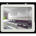 Miroirs sanitaires cadre MDF blanc